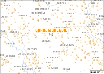 map of Gornji Junčevići