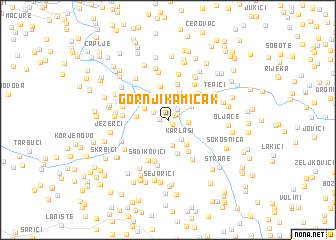 map of Gornji Kamičak