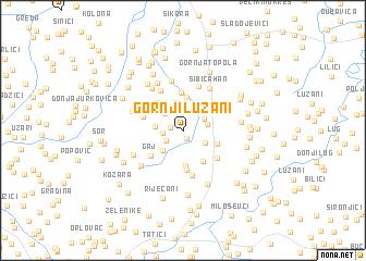 map of Gornji Lužani
