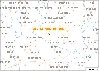 map of Gornji Marinkovac