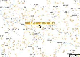 map of Gornji Marinkovići