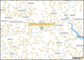 map of Gornji Maskalići