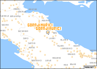map of Gornji Murići