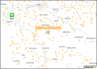 map of Gornji Podivič