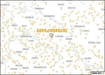 map of Gornji Popovac