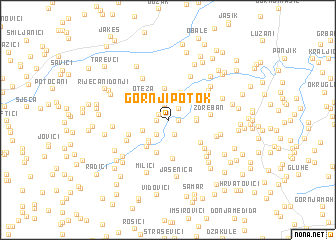 map of Gornji Potok