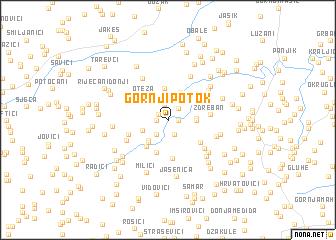 map of Gornji Potok