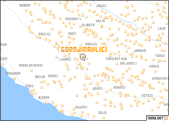 map of Gornji Ravlići