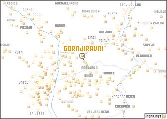 map of Gornji Ravni
