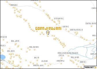 map of Gornji Rujani