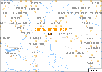 map of Gornji Šarampov