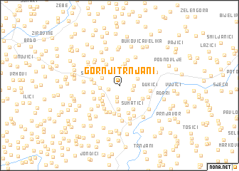 map of Gornji Trnjani