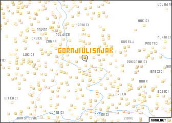 map of Gornji Ulišnjak