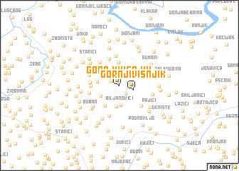 map of Gornji Višnjik