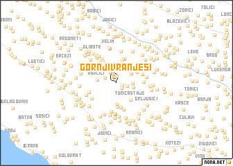 map of Gornji Vranješi