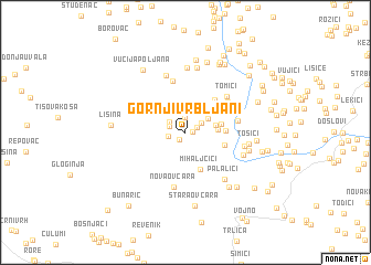 map of Gornji Vrbljani