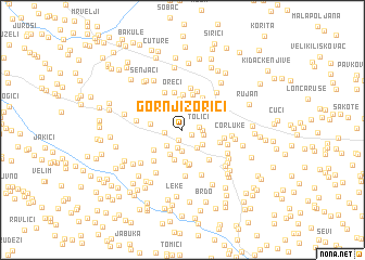 map of Gornji Zorići