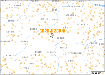 map of Gornji Zovik