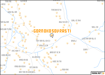 map of Gorno Kosovrasti