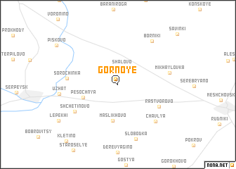 map of Gornoye