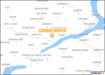 map of Gorodchanka