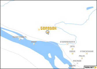 map of Gorodok