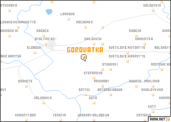 map of Gorovatka