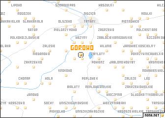 map of Górowo