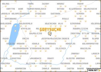 map of Góry Suche