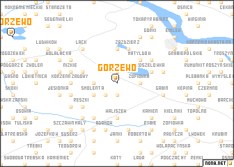 map of Gorzewo