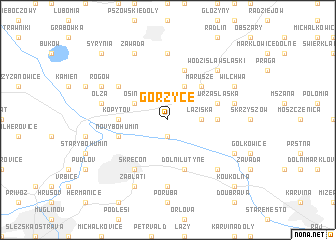 map of Gorzyce