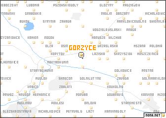 map of Gorzyce