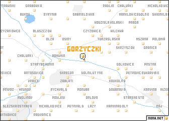 map of Gorzyczki
