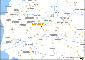 map of Gosa e Madhe