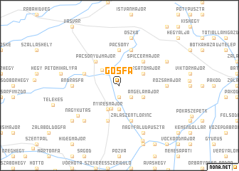 map of Gősfa
