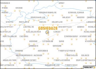 map of Gosie Duże
