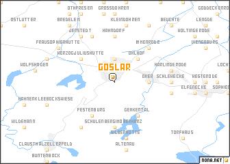 map of Goslar