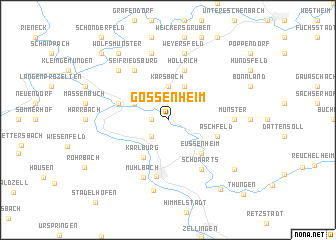 map of Gössenheim
