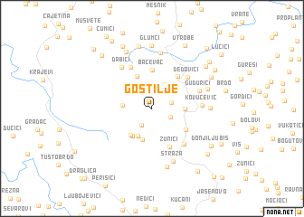 map of Gostilje