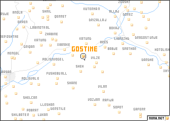 map of Gostimë
