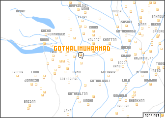 map of Goth Ali Muhammad