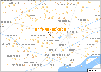 map of Goth Bahār Khān