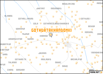 map of Goth Dāta Khān Domki