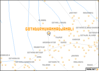 map of Goth Dur Muhammad Jamāli