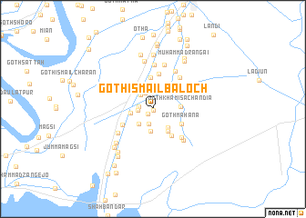 map of Goth Ismaīl Baloch