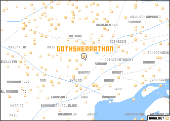 map of Goth Sher Pathān
