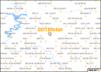map of Göttengrün