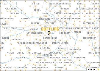 map of Göttling