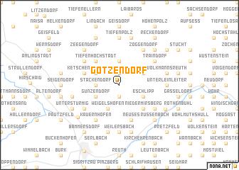 map of Götzendorf
