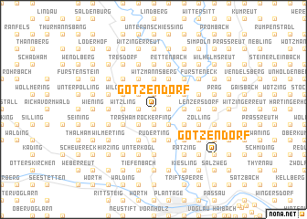 map of Götzendorf